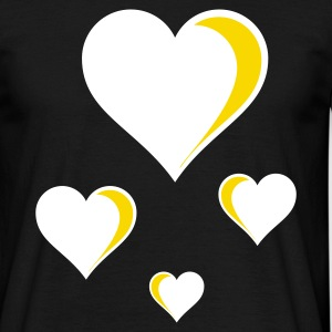 Flying Hearts Glowing - Men's T-Shirt