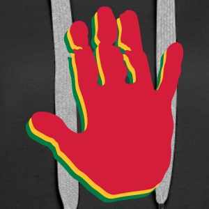 Black Rasta Hands Jumpers  - Women's Premium Hoodie