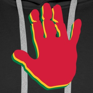 Black Rasta Hands Jumpers - Men's Premium Hoodie