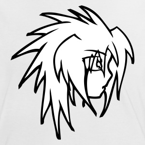 Manga Head - Frauen Kontrast-T-Shirt