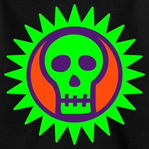 Halloween Sun Skull - Teenage T-shirt