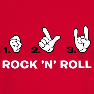 Rot/weiß how to rock 'n' roll T-Shirts (Kurzarm) - Männer Kontrast-T-Shirt