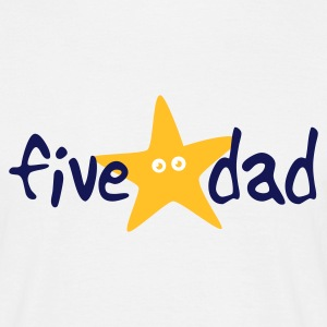 White five star dad T-Shirt - Men's T-Shirt