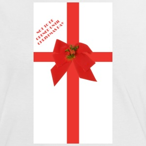 White/red Christmas wrapping Women's Tees - Women's Ringer T-Shirt