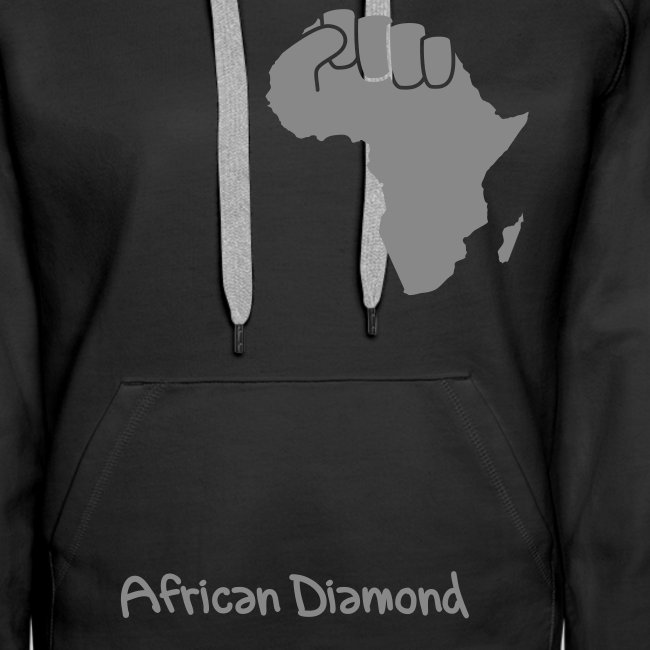 Sweat Woman - African Diamond - proud of my roots - argent