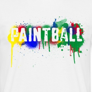 White Paintball Men's Tees (short-sleeved) - Men's T-Shirt