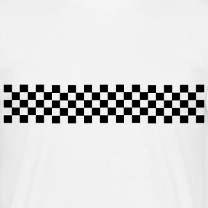 Checkered flag shirt - Mannen T-shirt
