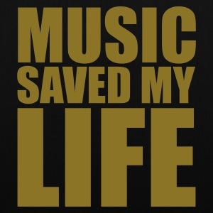 Noir music saved mylife Sacs - Tote Bag