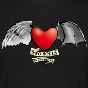 two_souls_one_heart T-Shirts - Men's T-Shirt
