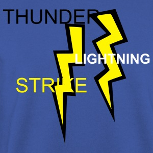 Red two colored lightning bolts Jumpers - Men's Sweatshirt