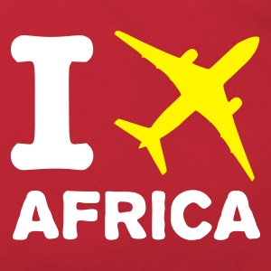 Red/white I fly Africa Bags  - Retro Bag