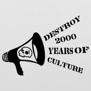 White destroy_2000_years_of_culture3 Bags  - Tote Bag