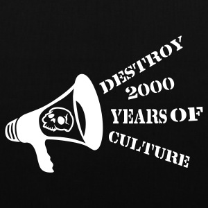 Black destroy_2000_years_of_culture3 Bags  - Tote Bag