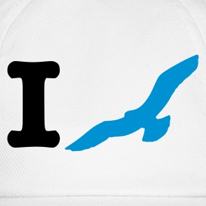 White/white I fly Caps & Hats - Baseball Cap