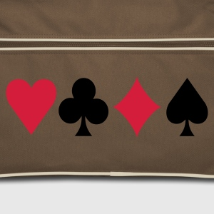 Brown / sand Poker Signs 2 Bags  - Retro Bag