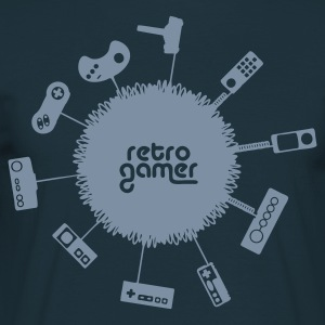 Navy retro gamer Men's T-Shirts - Men's T-Shirt