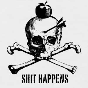 Shit Happens - Männer Baseball-T-Shirt