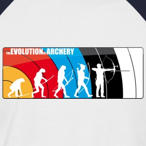 the evolution of archery - Fita Recurve Target - Männer Baseball-T-Shirt