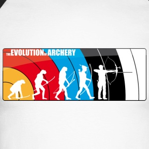 the evolution of archery Fita Recurve Target - Männer Baseballshirt langarm