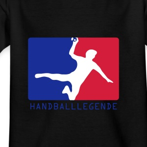 Schwarz Handball  - Handballlegende Kinder Shirts - Teenager T-Shirt
