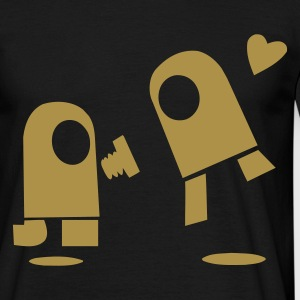 Black Robot Love Men's Tees - Men's T-Shirt