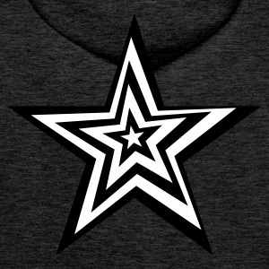 SPaCE BlackLight-series Distorted Star - Männer Premium Hoodie
