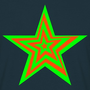 SPaCE-SHirT BlackLight-series Distorted Star - Männer T-Shirt