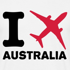 Wit I fly Australia T-shirts - Mannen T-shirt