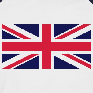 Weiß/navy union_jack T-Shirts - Männer Baseball-T-Shirt