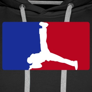 Breakdance League - Sweat-shirt à capuche Premium pour hommes