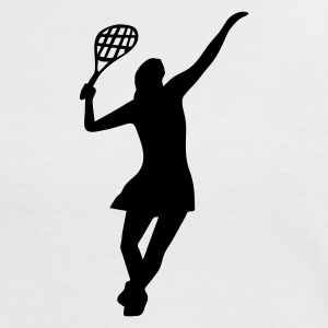 Female Tennis Player - Women's Ringer T-Shirt