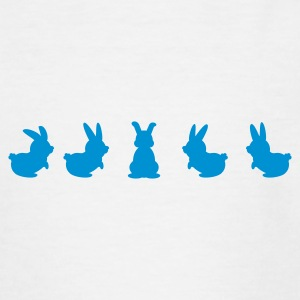 Weiß five bunnies (1c) Kinder Shirts - Teenager T-Shirt