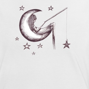 White/black fishing for stars Women's Tees - Women's Ringer T-Shirt