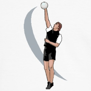 T-shirt volleyball, volleyeur au smash - T-shirt contraste Homme