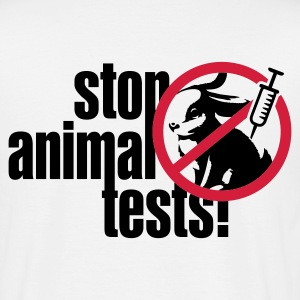 Weiß ::STOP ANIMAL TESTS:: T-Shirts - Männer T-Shirt
