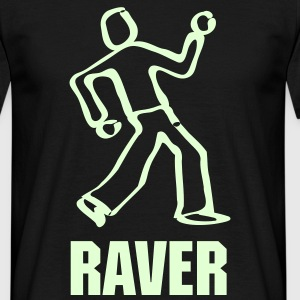 Raver Dancer glow t-shirt - Men's T-Shirt