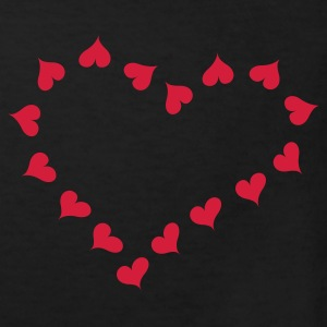 Sort Heart and love x 16  Børne T-shirts - Organic børne shirt