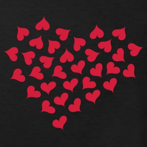 Sort Lots of Hearts and Love  Børne T-shirts - Organic børne shirt