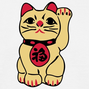 good fortune cat - maneki neko - T-shirt herr