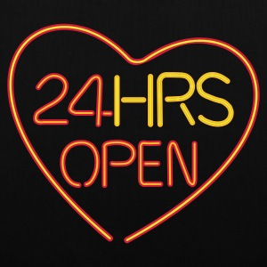24 HRS OPEN for LOVE - Stoffbeutel