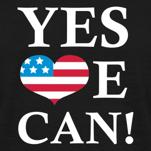 Zwart Yes We Can!  T-shirts - Mannen T-shirt