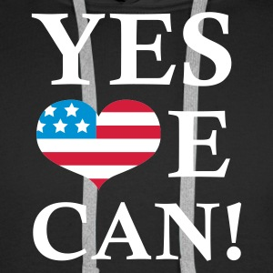 Svart Yes We Can - President Barack Obama Tröjor - Premiumluvtröja herr