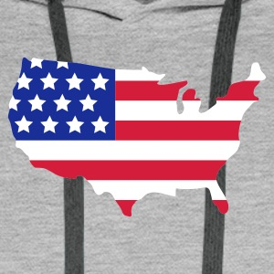 Blended grey Stars and Stripes of USA, United States of America  Jumpers - Men's Premium Hoodie