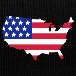 Sort Stars and Stripes of USA, United States of America  Kasketter & Huer - Winterhue