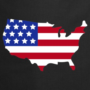 Noir Stars and Stripes of USA, United States of America  Tabliers - Tablier de cuisine