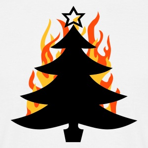burning Xmas - T-shirt herr