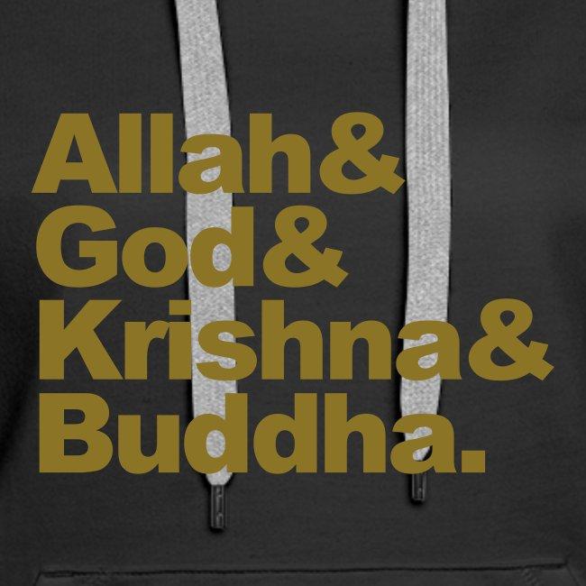 Allah& God& Krishna& Buddha