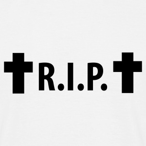 Weiß R.I.P. - Rip - Rest in peace - Cross T-Shirts - Männer T-Shirt