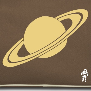 Brun / sand Saturn - Planet - Astronaut - Space Tasker - Retro taske