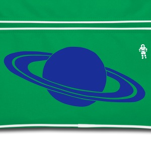 Lichtblauw / wit Saturn - Astronaut - Space - Planet Tassen - Retro-tas